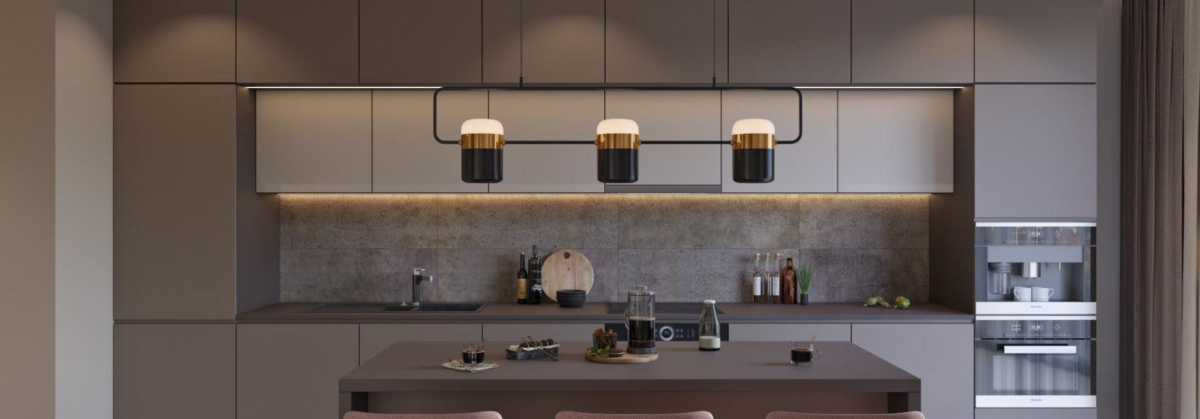 Дизайн четырехкомнатной квартиры Киев кухня студия