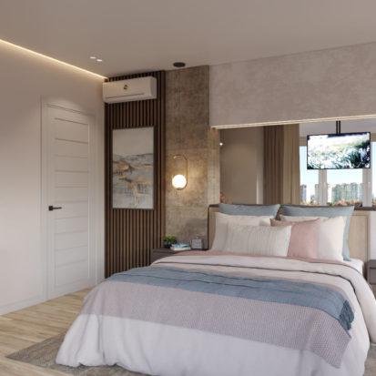 Дизайн четырехкомнатной квартиры Киев спальня
