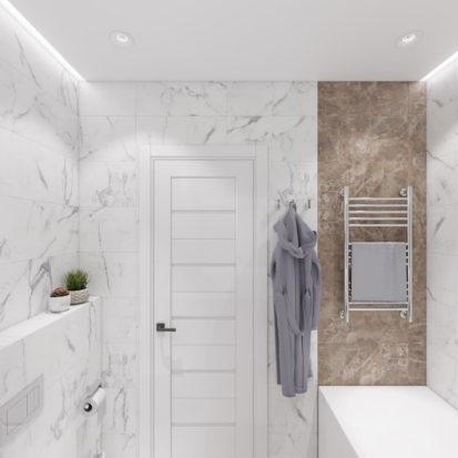 Дизайн 4х комнатной квартиры Киев ванная