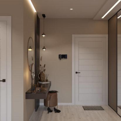Дизайн 4х комнатной квартиры Киев гостиная прихожая