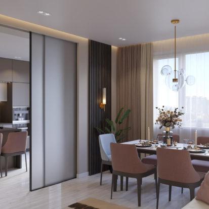 Дизайн 4х комнатной квартиры Киев гостинная