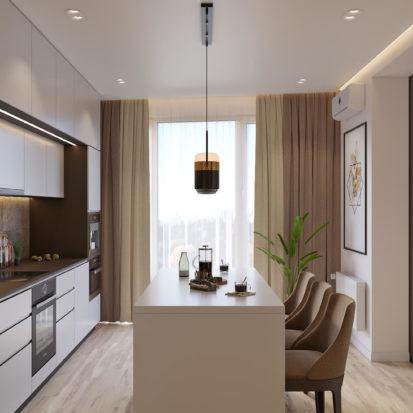 Дизайн 4х комнатной квартиры Киев кухня