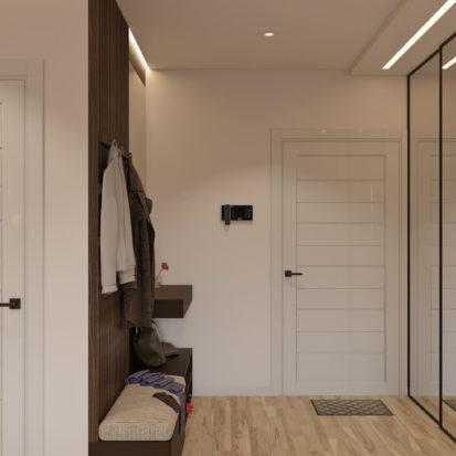 Дизайн 4х комнатной квартиры Киев прихожая