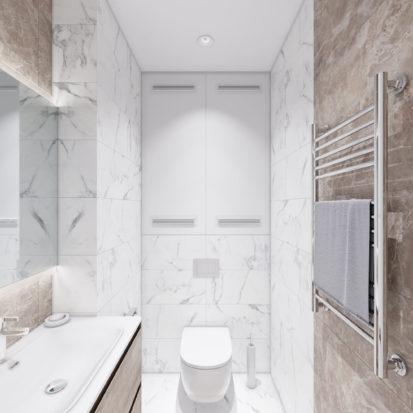 Дизайн 4х комнатной квартиры Киев туалет