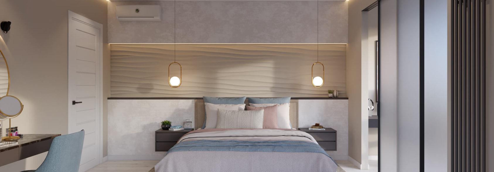 Спальня с балконом дизайн в Киеве