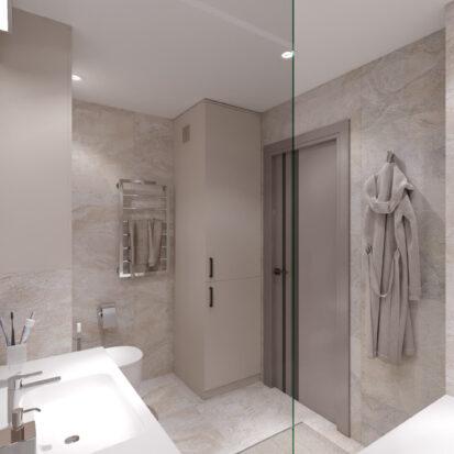 Ванная дизайн 3х комнатной квартиры Днепр