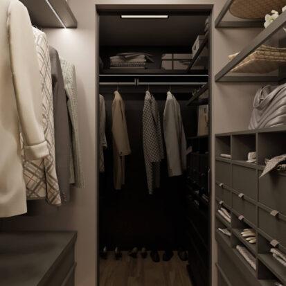 Гардеробная дизайн 3х комнатной квартиры Днепр