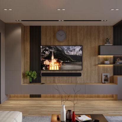 Гостинная дизайн 3х комнатной квартиры Днепр