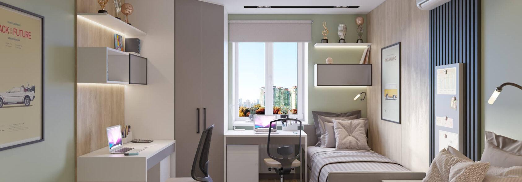 Детская дизайн 3х комнатной квартиры Днепр