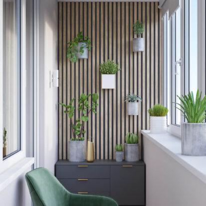 Дизайн балкона трехкомнатная квартира Днепр