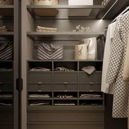 Дизайн гардеробной в 3х комнатной квартире Днепр
