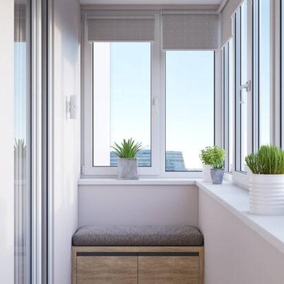 Дизайн интерьера балкона в 3х комнатной квартире Днепр