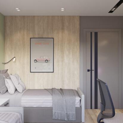 Дизайн интерьера детской трехкомнатная квартира Днепр