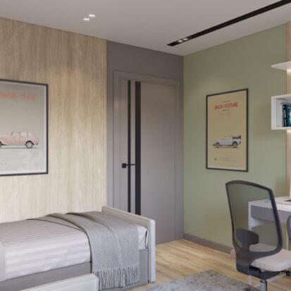 Дизайн интерьера детской 3х комнатная квартира Днепр