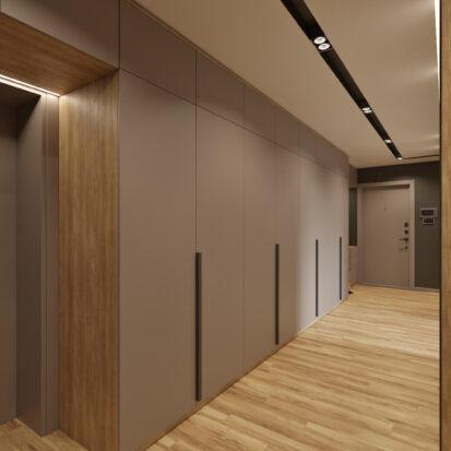 Дизайн интерьера прихожей в 3х комнатной квартире Днепр