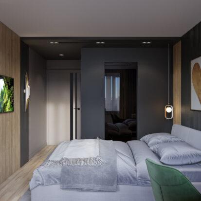 Дизайн интерьера спальни трехкомнатная квартира Днепр