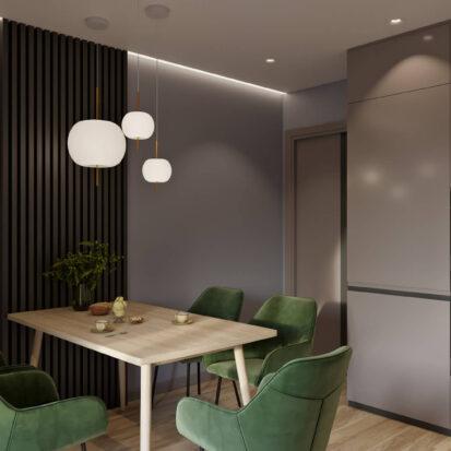 Дизайн кухни в трехкомнатной квартире Днепр