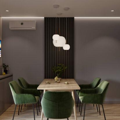 Дизайн кухни 3х комнатная квартира Днепр