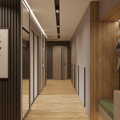 Дизайн прихожей в 3х комнатной квартире Днепр