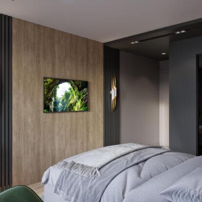 Дизайн спальни в трехкомнатной квартире Днепр