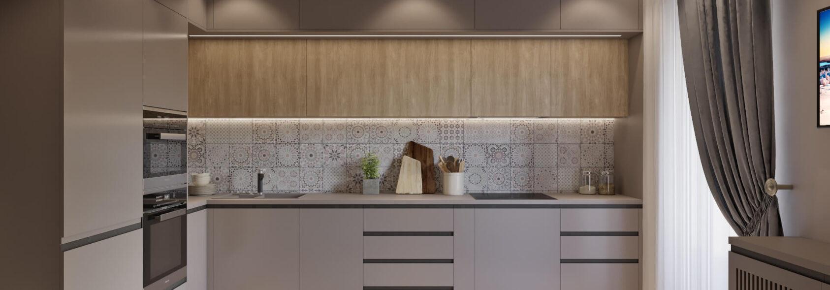 Дизайн трехкомнатной квартиры Днепропетровск Кухня