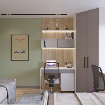 Дизайн трехкомнатной квартиры Днепр Детская