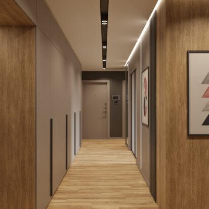 Дизайн трехкомнатной квартиры Днепр прихожая