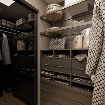 Дизайн 3х комнатной квартиры Днепр Гардеробная