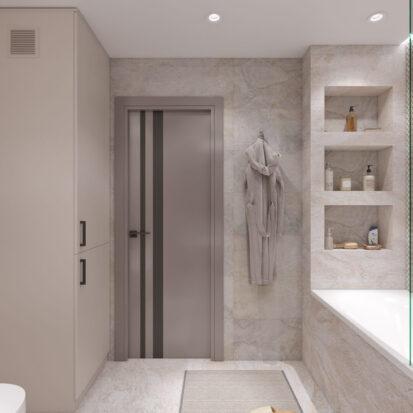 Дизайн 3х комнатной квартиры Днепр ванная