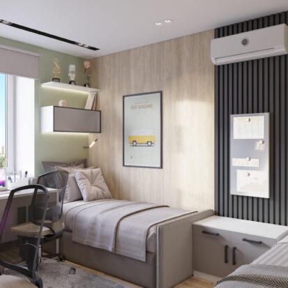 Дизайн 3х комнатной квартиры Днепр детская