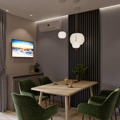 Дизайн 3х комнатной квартиры Днепр кухня