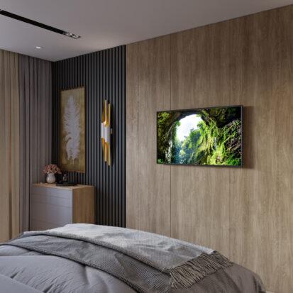 Дизайн 3х комнатной квартиры Днепр спальня