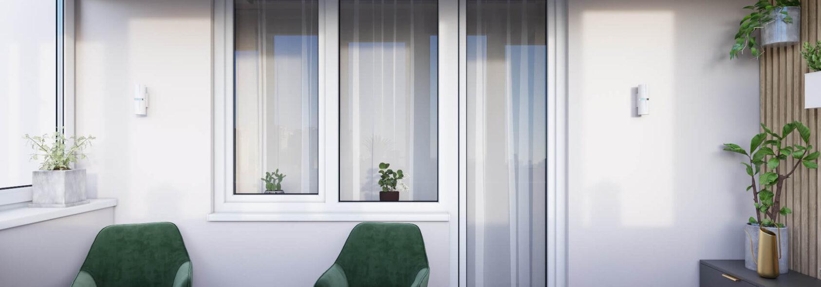 Интерьер балкона в 3х комнатной квартире