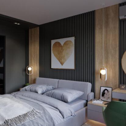 Интерьер спальни в 3х комнатной квартире Днепр