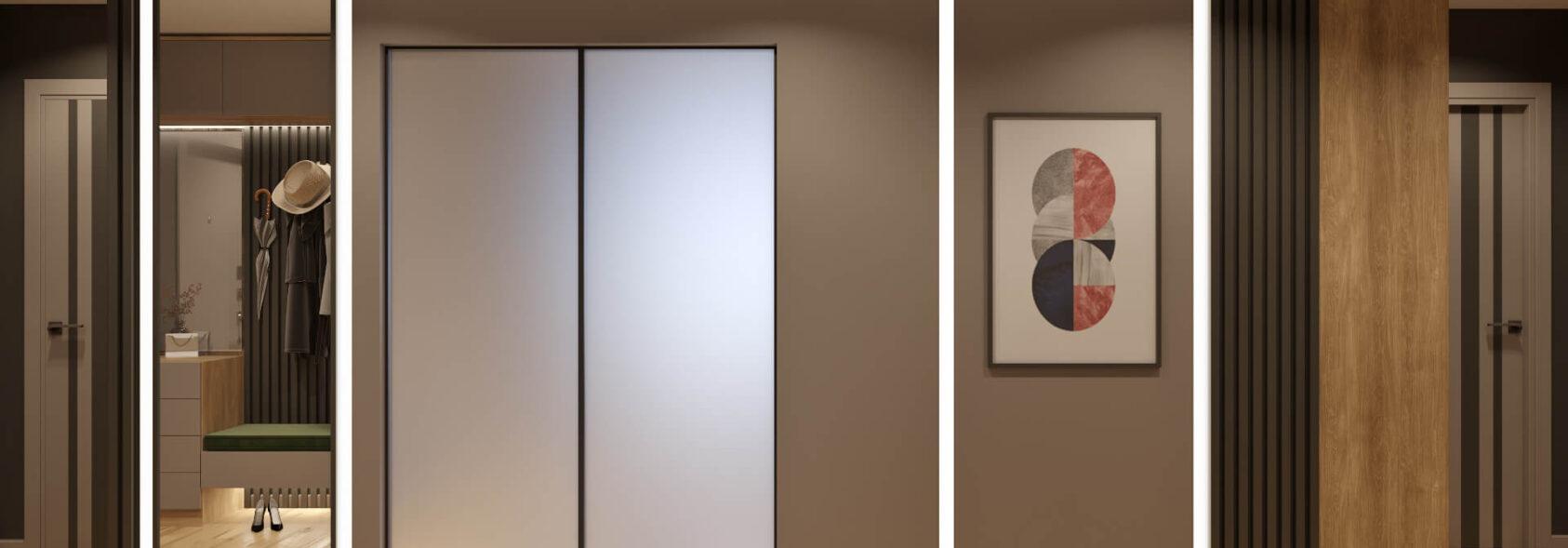 Прихожая дизайн 3х комнатной квартиры Днепр