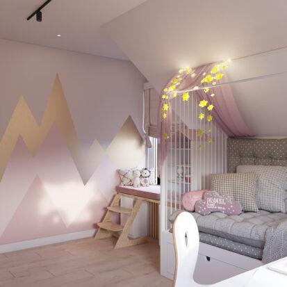 Дизайн детской для девочки дом Киев