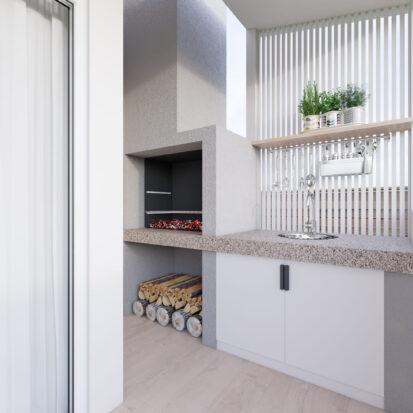 Дизайн дома Киев барбекю на террасе
