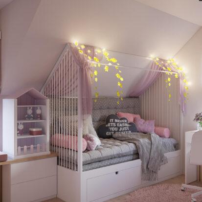 Дизайн жилого дома Киев детская для девочки