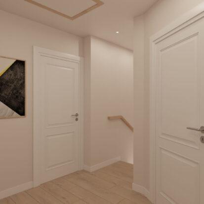 Дизайн жилого дома Киев коридор 2й этаж