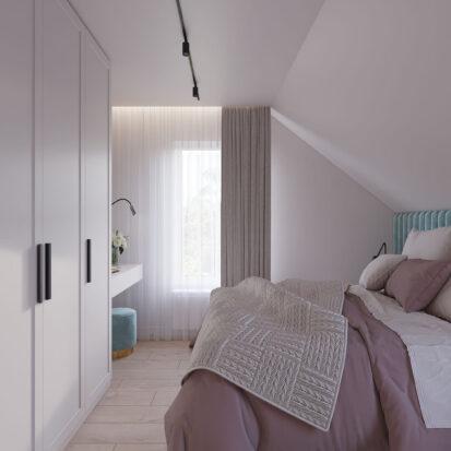 Дизайн жилого дома Киев спальня