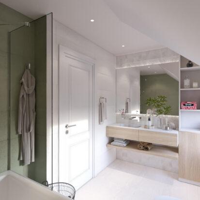 Дизайн интерьера дом Киев ванная комната