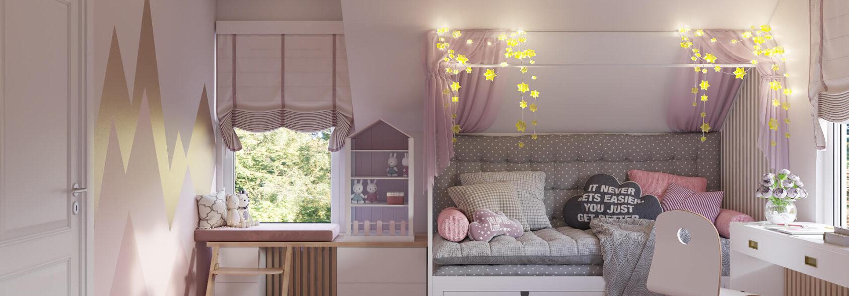 Дизайн интерьера дом Киев детская для девочки