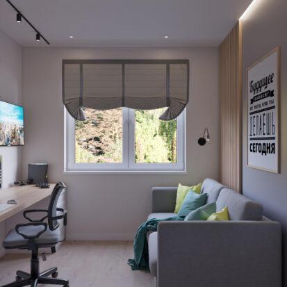 Дизайн интерьера дом Киев кабинет