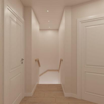 Дизайн интерьера дом Киев коридор 2й этаж