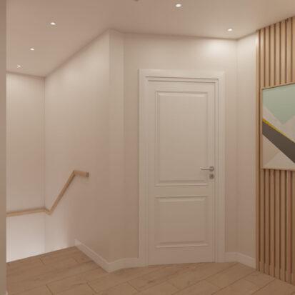 Дизайн коридора 2й этаж дом Киев