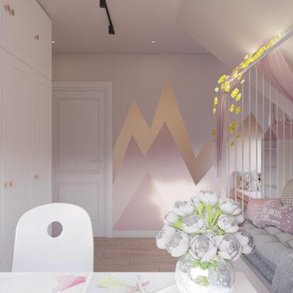 Дом Киев дизайн детской для девочки