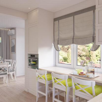 Интерьер кухни дом Киев