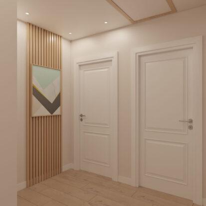 Элитный дизайн дома Киев коридор 2й этаж