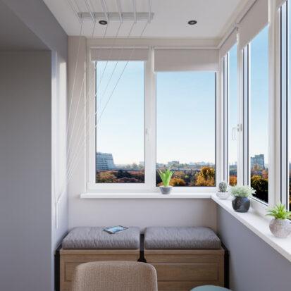 Балкон Современный дизайн квартиры Запорожье