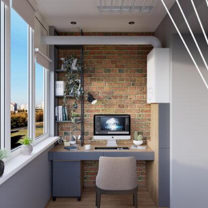 Современный дизайн квартиры Запорожье балкон